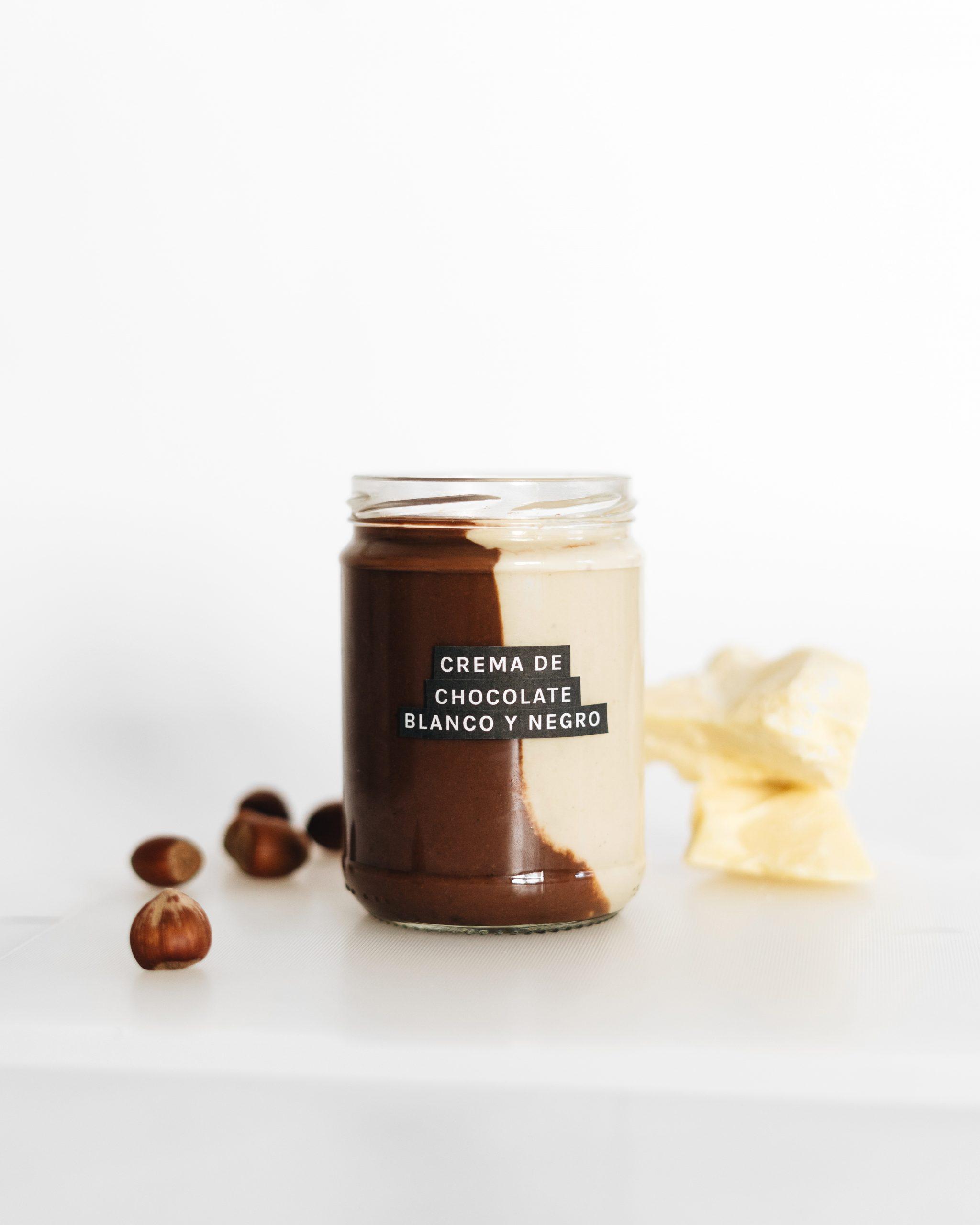 nocilla vegana nutela vegana crema de chocolate blanco y negro