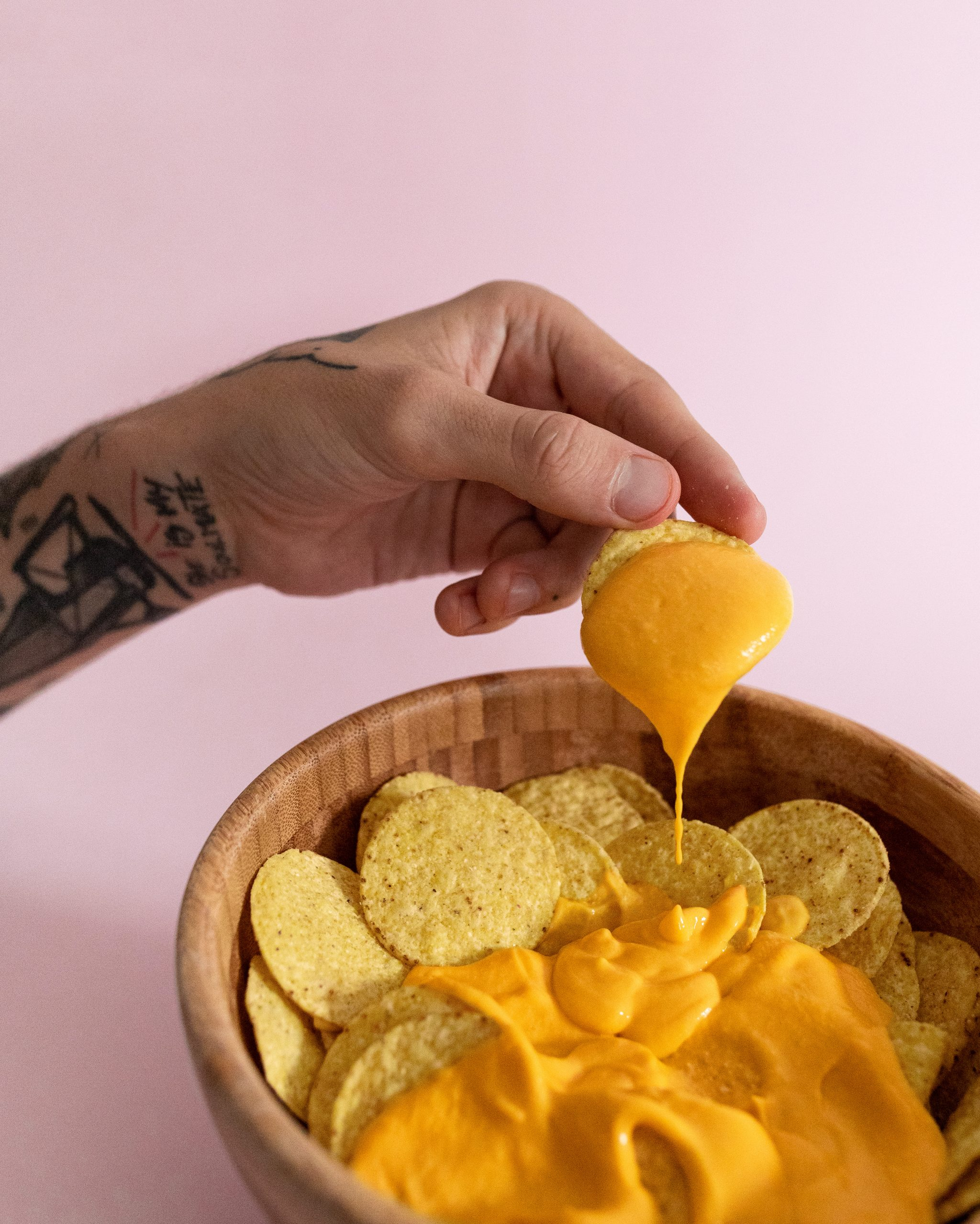 queso cheddar vegano