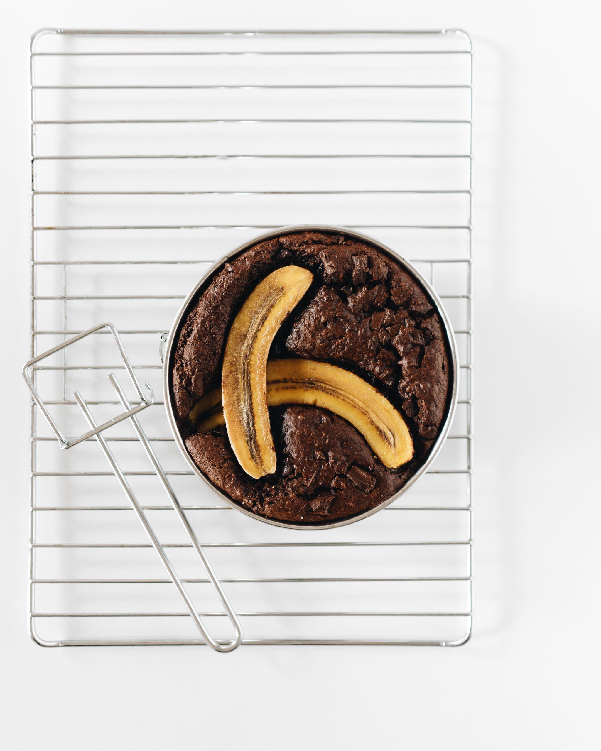Banana bread vegano con chocolate
